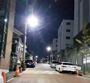 """서구 주택가 노후 보안등 LED로 교체""""밝아졌어요"""""""